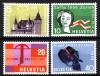 Schweiz Mi. Nr. 653 - 656 Jahresereignisse 1958 **