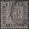 AD Staaten Baden Mi. Nr. 13 o Wappen 1 Kreuzer