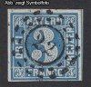 AD Staaten Bayern Mi. Nr. 2 I b o Wertziffer 3 Kr