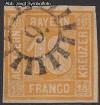 AD Staaten Bayern Mi. Nr. 7 o Wertziffer 18 Kr