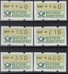 Bund ATM Satz DBP Emblem  Mi.  1.2 hu VS 8 **