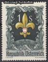 �sterreich Mi. Nr. 966 Pfadfindertreffen 1951 **