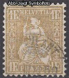 Schweiz Mi. Nr. 44 Sitzende Helvetia Faserpapier o