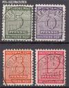 SBZ Mi. Nr. 120 - 123 x o Freimarken