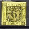 AD Staaten Baden Mi. Nr. 7 o Ziffer im Kreis 6 Kr