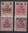 DR Mi. Nr. 154 - 157 I ** Freimarken Germania mit Aufdruck