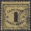 AD Staaten Baden Portomarken Mi. Nr. 1 x o Ziffer im Rankenwerk