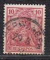 DR gepr�fte Farbabart Mi. Nr. 56 b o Reichspost 10 Pf