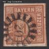AD Staaten Bayern Mi. Nr. 4 II o Wertziffer 6 Kr