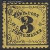 AD Staaten Baden Portomarken Mi. Nr. 2 y o Ziffer im Rankenwerk
