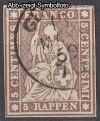 Schweiz Mi. Nr. 13 I Sitzende Helvetia 5 Rp o