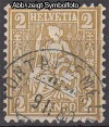 Schweiz Mi. Nr. 29 a Sitzende Helvetia 2 C oliv o