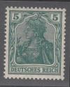 DR Mi. Nr. 85 II d ** Germania 5 Pf gepr�ft Farbabart