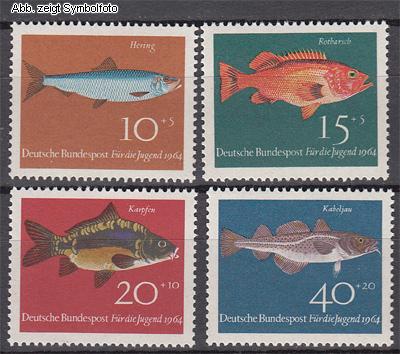 briefmarken bund michel nr 412 415 postfrisch fische g nstig kaufen im briefmarken online shop. Black Bedroom Furniture Sets. Home Design Ideas