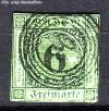 AD Staaten Baden Mi. Nr. 3 a o Ziffer im Kreis 6 Kr