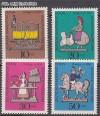 Berlin 1969 Mi. Nr. 348 - 351 ** Zinnfiguren