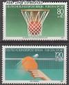 Berlin 1985 Mi. Nr. 732 - 733 ** Basketball EM
