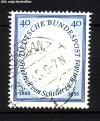 Bund Mi. Nr. 210 o Friedrich von Schiller