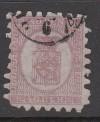 Finnland Mi. Nr. 9 B o  Wappen 40 P finnische Währung Durchstich B