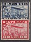 Sowjetunion Mi. Nr. 390 – 391 A ** Besuch Luftschiff eng gezähnt