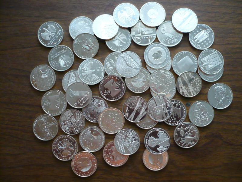 Lot Von 47 Stück 10 Euro Münzen Ppstg Günstig Kaufen Im Briefmarken