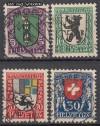 Schweiz Mi. Nr. 214 - 217 Pro Juventute 1925 o