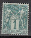 Frankreich Mi. Nr. 56 I ** Allegorien 1 C Typ I