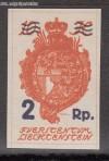 Liechtenstein Mi. Nr. 43  Landeswappen mit Aufdruck **