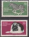 DDR Mi. Nr. 825 - 826 ** Dresdner Zoo