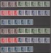Bund Mi. 506 - 510 w und v  ** im 5 er Streifen mit Rollenmarke