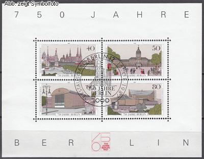 briefmarken berlin 1987 block 8 gestempelt 750 jahre berlin g nstig kaufen im briefmarken online. Black Bedroom Furniture Sets. Home Design Ideas