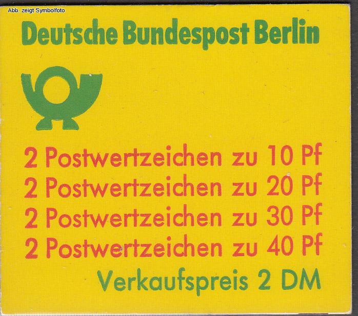briefmarken berlin markenheftchen 9 postfrisch g nstig kaufen im briefmarken online shop. Black Bedroom Furniture Sets. Home Design Ideas
