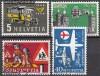 Schweiz Mi. Nr. 623 - 626 Autopost 1956 o