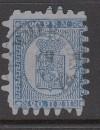 Finnland Mi. Nr. 8 C o  Wappen 20 P finnische Währung Durchstich C