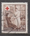 DDR Geprüfte Abart Mi. Nr. 385 X I o  Rotes Kreuz Wz 2 X I