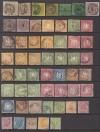 AD Württemberg Lot Ziffern und Wappen 1851 - 1869 ca 5000 € Michel