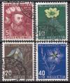 Schweiz Mi. Nr. 541 - 544 Pro Juventute 1949 o