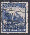 DR geprüfte Abart Mi. Nr. 582 I o n in Eisenbahn unterbrochen