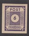 SBZ Zähnungs Abart Mi. Nr. 58 U **  Ziffer 6 Pf. ungezähnt