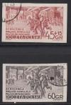 Polen Mi. Nr. 779 - 780 B o geschnitten Oktoberrevolution