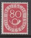 Bund Mi. Nr. 137 ** Posthorn 80 Pfennig bestens geprüft