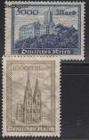 DR Mi. Nr. 261 - 262 ** Wartburg und Kölner Dom