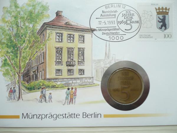 numisbrief m nzpr gest tte berlin 1993 g nstig kaufen im briefmarken online shop. Black Bedroom Furniture Sets. Home Design Ideas