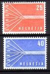 Schweiz Mi. Nr. 646 - 647 Europa 1957 **