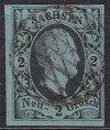 AD Sachsen Mi. Nr. 5 2 Ngr o