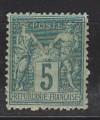 Frankreich Mi. Nr. 59 II  ** Allegorien 5 C