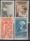 Saargebiet Mi. Nr. 104 - 107 ** Volkshilfe 1926 Pflegedienst I