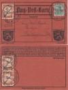 DR Flugpostmarke 3 x Mi. Nr. IV auf Karte sogenannter Roter Hund