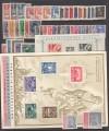 Tschechoslowakei komplette Ausgaben 1945 ** mit Bl. 6 + 7  ( S 2009 )