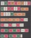 Zusammendr. Posthorn ** komplett W1-3, S1-12, WZ1-4 Top Angebot